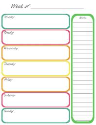 weekly calendar template free printable weekly calendar