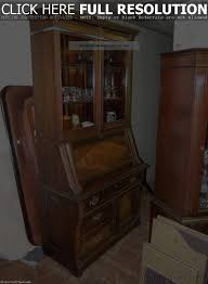 antique drop front secretary desk with bookcase best shower