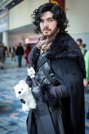 jerome martin halloween costume jon snow and ghost game of thrones cosplay pinterest ghost