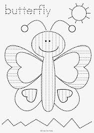 butterfly tracing worksheet freebie preschool printables