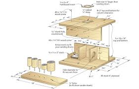 workshop plans drum sanding table