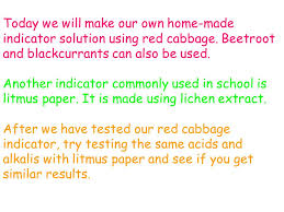 How To Make Litmus Paper At Home - lesson aims to understand how to test for acids and alkalis to