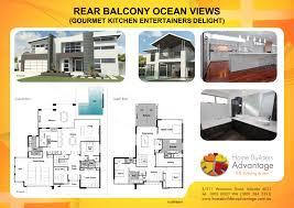 home builders advantage custom design home with rear balcony