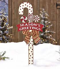 Candy Cane Outdoor Decorations Outdoor Gingerbread House Decorations