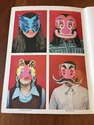 vintage paper mask book halloween masks 1975 unused dover
