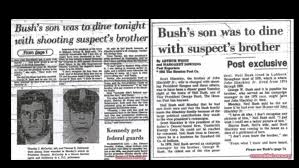 george h w bush date of birth bush angle to reagan shooting still unresolved as hinckley walks