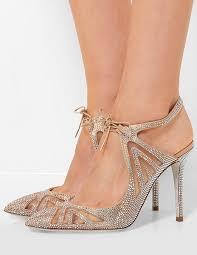 Rhinestone Sandal Heels Satin High Heels Elegant Apricot Rhinestone Beaded Pointed Toe