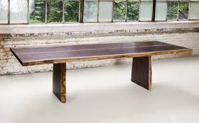 superior woodcraft live edge walnut dining room table superior