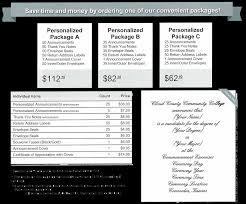 graduation packages graduation announcements
