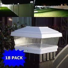 Solar Powered Fence Lights - outsunny solar led fence post cap white ebay
