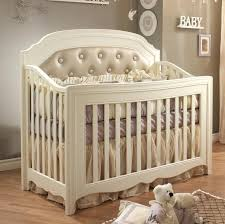 convertible crib with tufted panel baby bedding images solid wood