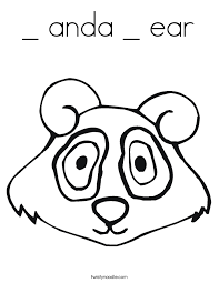 Anda Ear Coloring Page Twisty Noodle Ear Coloring Page