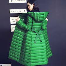 show personality snow for women down jacket slim coat thin