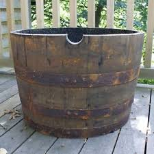 Half Barrel Planter oak whisky half barrel planter scottish wooden whiskey container