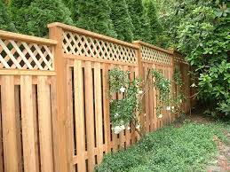wood lattice fence interiors design