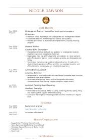 Kindergarten Teacher Resume Examples by Kindergarten Assistant Teacher Resume Tercentenary Essays