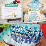 Cookie Monster Baby Shower Decorations Sesame Street Baby Shower Ideas Blue Green Red Yellow Balloon For