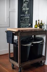 trash bin storage cabinet hidden kitchen island mobile for kitchen