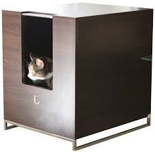 amazon com modern cat designs litter box hider brown cat