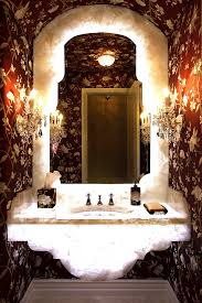 countertop water dispenser in powder room eclectic with exotic