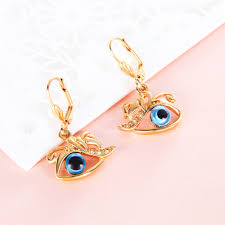 design of gold earrings ear tops angle hook earring ear piercing for women girl gp