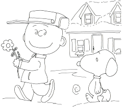 free charlie brown snoopy and peanuts coloring pages free charlie