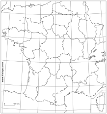Blank Middle East Map by Outline Map Of France With Regions Parallels And Meridians