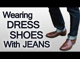 3 rules on wearing dress shoes with jeans pairing different