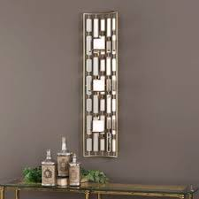 Mirrored Wall Sconce Danya B Set Of 2 Vertical Mirror Pillar Candle Sconces With Metal