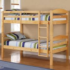 twin over twin solid wood natural bunk bed free shipping today