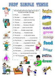 irregular verbs worksheets worksheets