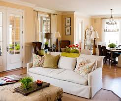 living room color scheme within neutral cream color scheme