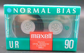 maxell cassette vintage blank maxell cassette ur 90 normal bais iec type 1