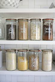 what to put in kitchen canisters living the label less p a n t r y