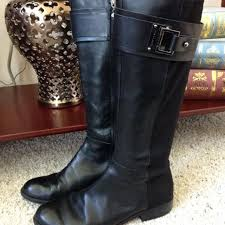 womens black leather boots size 9 find more s boots size 9 brand name designer tahari bailey