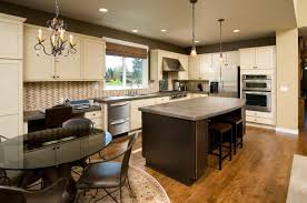Warm Modern Kitchen - 36 inspiring kitchens with white cabinets and dark granite pictures