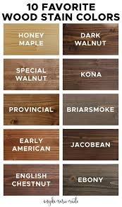 stain colors for oak kitchen cabinets 10 favorite wood stain colors angela made