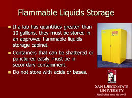 what should be stored in a flammable storage cabinet chemical inventory each laboratory must maintain a complete