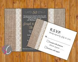50th golden anniversary invite burlap and lace gold 50 years