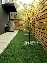 Modern Backyard Fence by Backyard Privacy Garden Fence Wood Trees Grill Area Modern Home