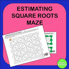 estimating square roots maze activity square roots maze and roots