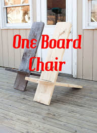 Hunting Chair Plans One Board Minimalist Chair 8 Steps With Pictures