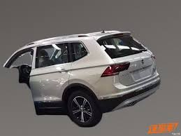 white volkswagen tiguan 2017 2017 vw tiguan long wheelbase with 7 seats uncovered will come to usa