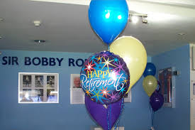 retirement balloon bouquet foil balloons ipswich suffolk the party balloon company
