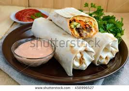 arabic wrap chicken shawarma wrap stock images royalty free images vectors