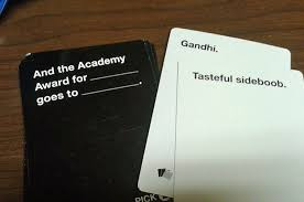 words against humanity cards titles for a reason cards against humanity review