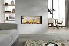 gas fireplace contemporary closed hearth double sided dru