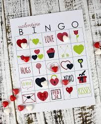 valentines bingo printable s day bingo williams