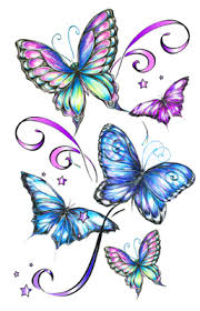 multicolor glitter butterfly temporary this is a 5 x 7
