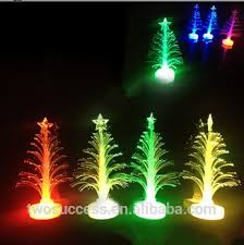 Christmas Tree With Optical Fiber Lights - luxury shining colorful optical fiber mini led christmas tree
